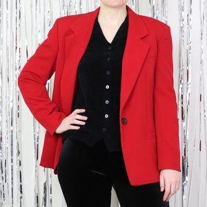 90s/Y2K Austin Reed Red Blazer Size 10